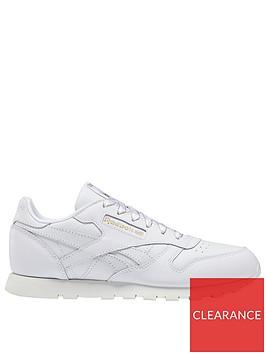reebok-classic-leather-junior-trainers-whitegreygold