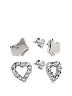 radley-sterling-silver-dog-and-crystal-set-heart-ladies-earrings-set