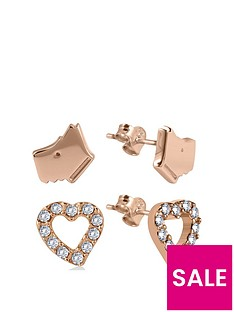 radley-18k-rose-gold-plated-sterling-silver-dog-and-crystal-set-heart-ladies-earrings-set