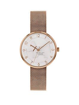 radley-radley-cut-out-champagne-dial-rose-gold-stainless-steel-mesh-strap-ladies-watch