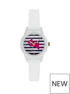 radley-radley-bright-pink-dog-and-blue-striped-dial-white-silicone-strap-ladies-watch