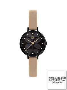 orla-kiely-black-and-pink-detail-dial-pink-leather-slim-strap-ladies-watch