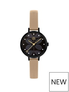 orla-kiely-orla-kiely-black-and-pink-detail-dial-pink-leather-slim-strap-ladies-watch