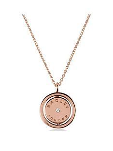 radley-radley-rose-gold-spinner-pendant-ladies-necklace