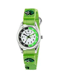 tikkers-tikkers-white-green-and-black-dial-green-dinosaur-velcro-strap-kids-watch