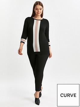 evans-vertical-stripe-jumper-black
