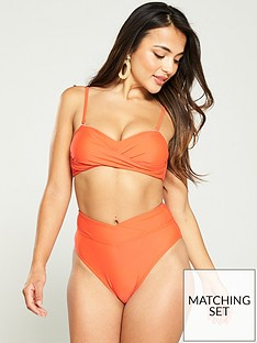 v-by-very-mix-amp-match-cross-front-high-waist-bikini-brief-dark-orange