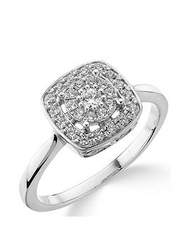 love-diamond-9ct-white-gold-20-point-diamond-square-set-cluster-ring