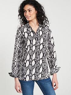 v-by-very-animal-print-button-through-blouse-ndash-snake