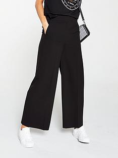 975ed0d1bf3d V by Very Wide Leg Crop Trouser - Black