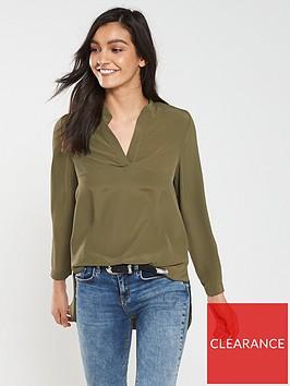 v-by-very-notch-neck-blouse-khaki