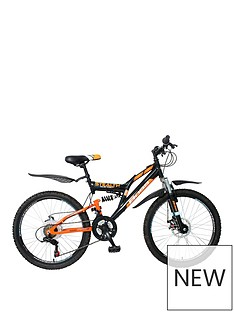 Boss Cycles Boss Stealth Boys Bike 24 inch Wheel Full Suspension Dual Disc