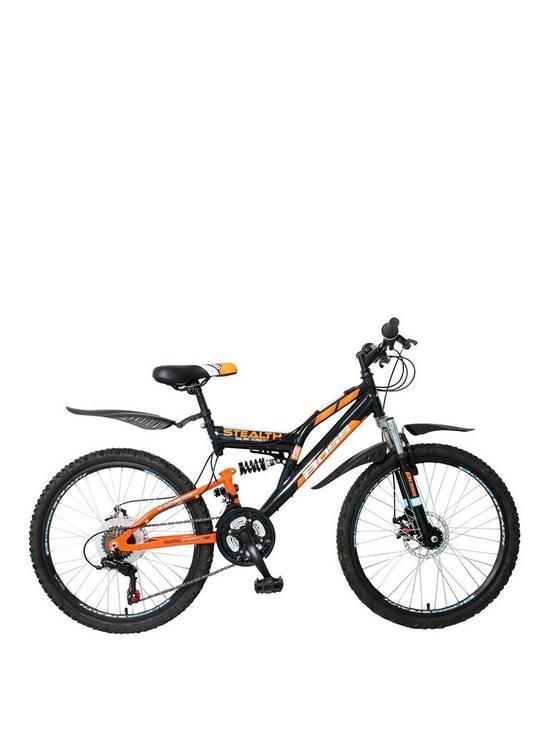 df5b2dfc68e Boss Cycles Boss Stealth Boys Bike 24 inch Wheel Full Suspension Dual Disc