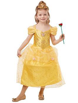 disney princess disney princess glitter & sparkle belle fancy dress