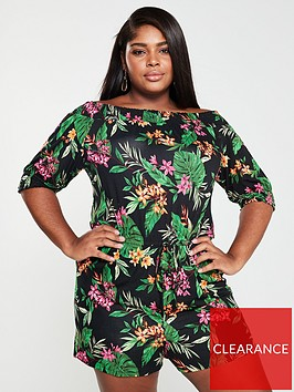v-by-very-curve-off-the-shoulder-jersey-playsuit-print
