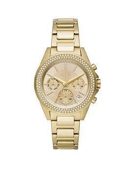 armani-exchange-armani-exchange-drexler-gold-and-crystal-set-multi-dial-gold-stainless-steel-bracelet-ladies-watch