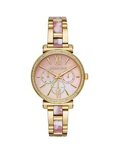 michael-kors-michael-kors-sofie-pink-mother-of-pearl-multi-dial-gold-stainless-steel-and-pink-cloud-centre-link-bracelet-ladies-watch