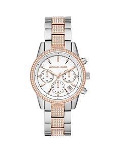 michael-kors-michael-kors-ritz-silver-and-rose-gold-detail-multi-dial-two-tone-crystal-set-stainless-steel-bracelet-ladies-watch