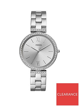 fossil-fossil-madeline-silver-sunray-crystal-set-dial-stainless-steel-bracelet-ladies-watch