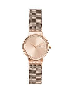 skagen-skagen-rose-gold-dial-rose-gold-stainless-steel-mesh-strap-ladies-watch