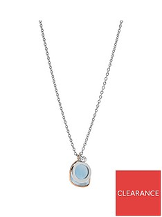 fossil-fossil-vintage-iconic-silver-and-blue-glass-triple-pendant-ladies-necklace