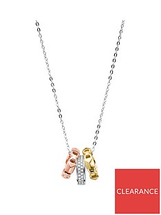 michael-kors-michael-kors-sterling-silver-and-cubic-zirconia-with-rose-gold-detail-mercer-link-ladies-necklace