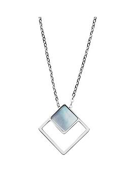 skagen-skagen-agnethe-mother-of-pearl-and-blue-glass-pendant-silver-ladies-necklace