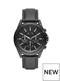 armani-exchange-armani-exchange-drexler-black-and-silver-dial-chronograph-dial-black-leather-strap-mens-watch