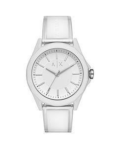 armani-exchange-armani-exchange-drexler-silver-dial-white-and-clear-pu-strap-mens-watch