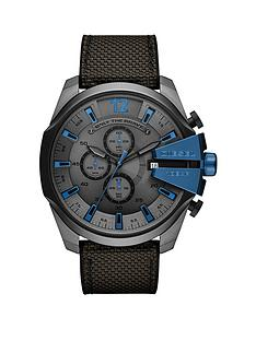 diesel-diesel-mega-chief-grey-and-blue-detail-chronograph-dial-gunmetal-silicone-and-nylon-strap-mens-watch