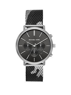 michael-kors-michael-kors-blake-black-and-silver-detail-multi-dial-back-and-gunmetal-camo-print-stainless-steel-mesh-strap-mens-watch