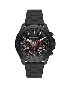 michael-kors-michael-kors-keaton-silver-with-grey-and-red-detail-chronograph-dial-gunmetal-stainless-steel-bracelet-mens-watch