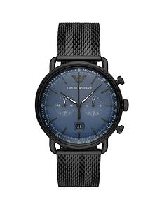 emporio-armani-emporio-armani-aviator-blue-chronograph-dial-black-stainless-steel-mesh-strap-mens-watch