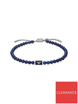 emporio-armani-emporio-armani-blue-beaded-and-silver-logo-mens-bracelet