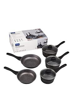 denby-5-piece-granite-finish-cast-aluminium-pan-set