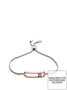 skagen-skagen-elin-rose-gold-and-cubic-zirconia-silver-mesh-ladies-slider-bracelet