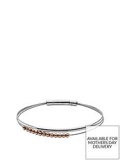 skagen-skagen-elin-rose-gold-beads-and-silver-double-thread-ladies-bracelet