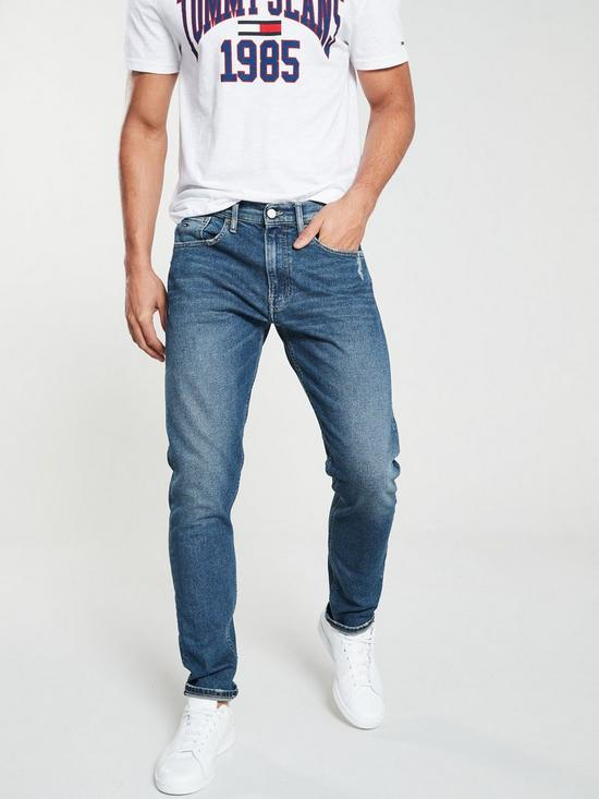 f442c18dd Tommy Jeans Modern Tapered Fit Jean - Mid Wash | very.co.uk