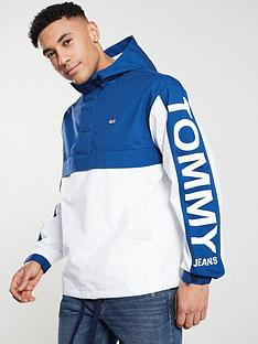 bd786ca27466 Tommy Jeans Graphic Pullover Jacket - White Blue