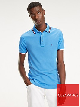 tommy-hilfiger-tipped-polo-shirt-blue