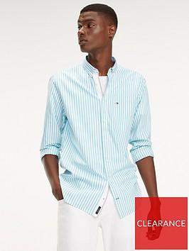 tommy-hilfiger-organic-oxford-stripe-shirt-bluewhite