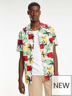 ca00e82c Tommy Hilfiger Palm Tree Print Short Sleeved Shirt - Multi-Coloured ...