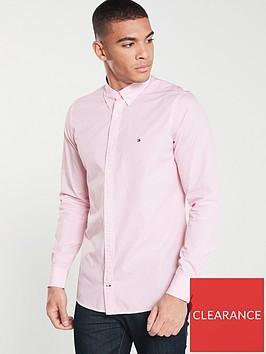 tommy-hilfiger-slim-essential-dot-shirt-pink