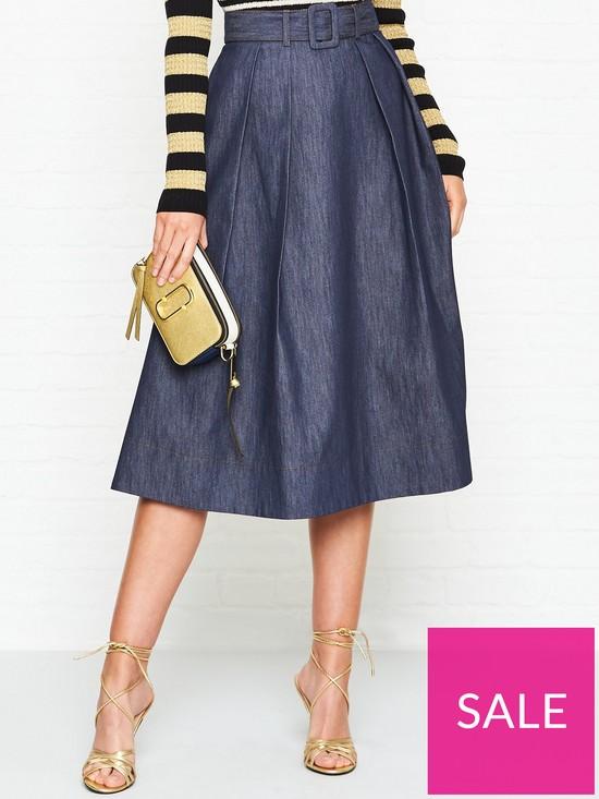 6ec8aff7 Tommy Hilfiger Tommy Hilfiger Zendaya Tailored Denim Skirt | very.co.uk