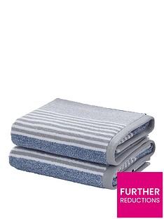 catherine-lansfield-textured-stripe-bath-towel-range-ndash-bluegrey