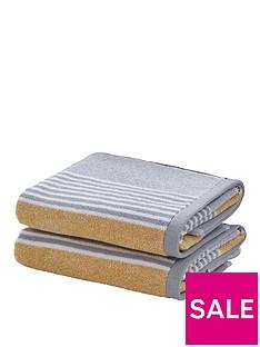 catherine-lansfield-textured-stripe-bath-towel-range-ndash-yellowgrey