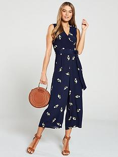 warehouse-tulip-print-jumpsuit-navy