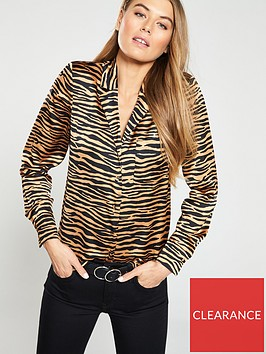 warehouse-zebra-print-blouse