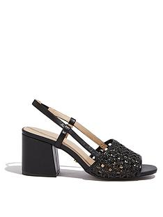 cd7941228e7 Oasis Woven Heeled Sandals - Black