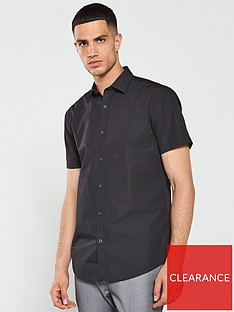 v-by-very-short-sleeved-easycare-shirt-black